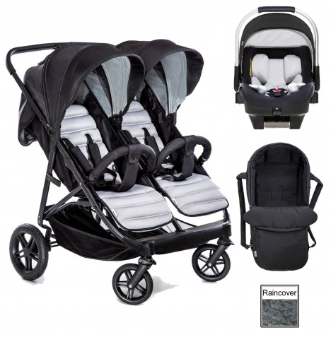 Hauck Rapid 3R Duo (iPro) iSize Travel System & Carrycot - Silver / Charcoal