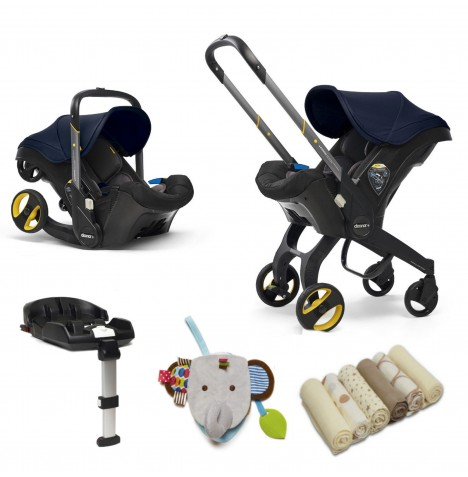 Doona Infant Car Seat / Stroller With Isofix Base & Accessories - Royal Blue..