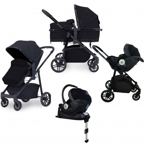 Ickle Bubba Moon 3in1 i-Size (Mercury) Travel System & Isofix Base - Black