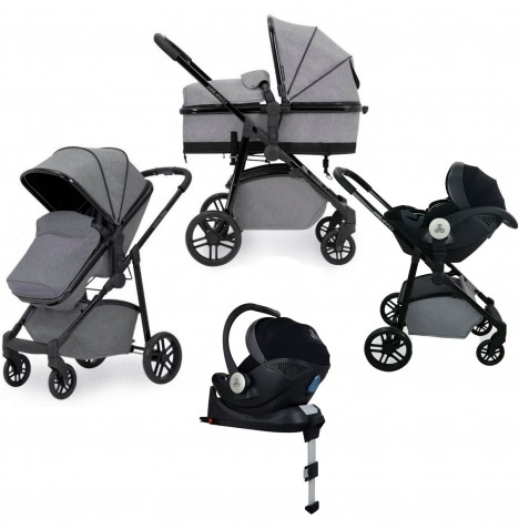 Ickle Bubba Moon 3in1 i-Size (Mercury) Travel System & Isofix Base - Space Grey