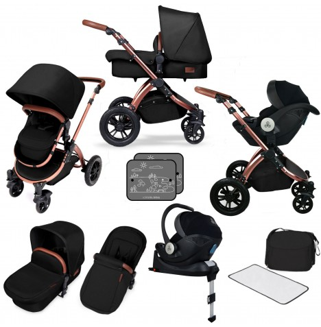 Ickle bubba SE Stomp V4 All In One (Mercury) i-Size Travel System & Isofix Base - Midnight