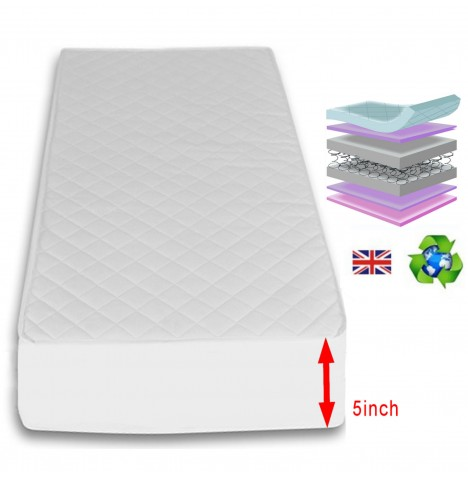 4Baby 5 Inch Maxi Air Cool Luxury Cot Safety Mattress 120 x 60cm...