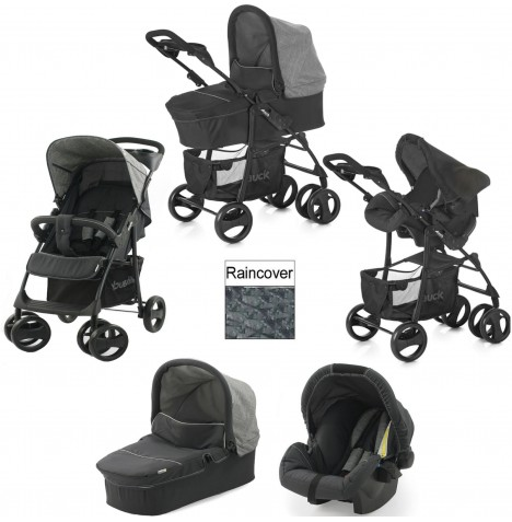 Hauck Shopper SLX Trio Set Travel System - Melange Grey