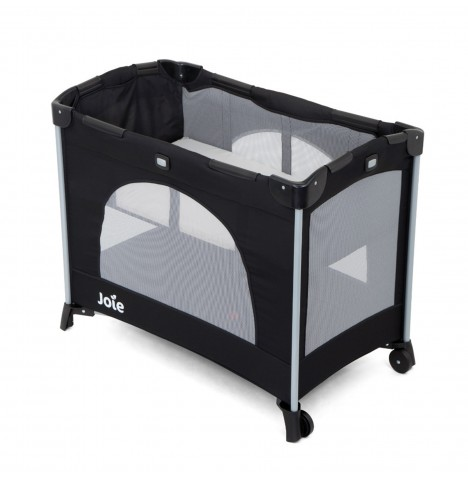 Joie Kubbie Bassinet Travel Cot - Coal