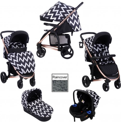 My Babiie MB200+ *Katie Piper Collection* Travel System & Carrycot - Rose Chevron...