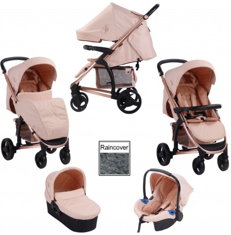My Babiie MB200+ *Billie Faiers Collection* Travel System & Carrycot - Rose Gold & Blush...