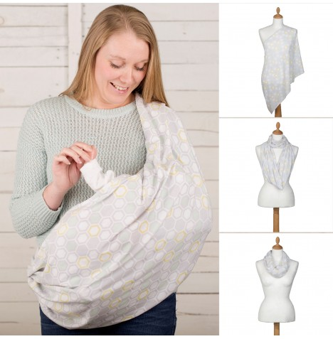 Cuddle Co Comfi Love 2 in 1 Infinity Maternity Designer Nursing Scarf - Beehive