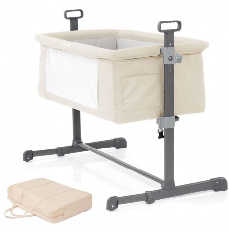 Babystyle Oyster Side Sleeping Snuggle Bedside Crib Bed with Carry Bag - Sand