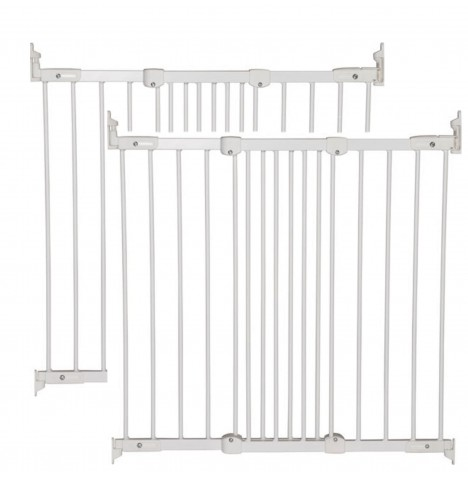 Babydan Super Flexi Fit Extending Safety Gate (Pack of 2) - White (67 - 106cm)