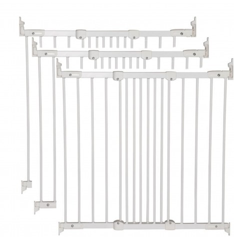 Babydan Super Flexi Fit Extending Safety Gate (Pack of 3) - White (67 - 106cm)