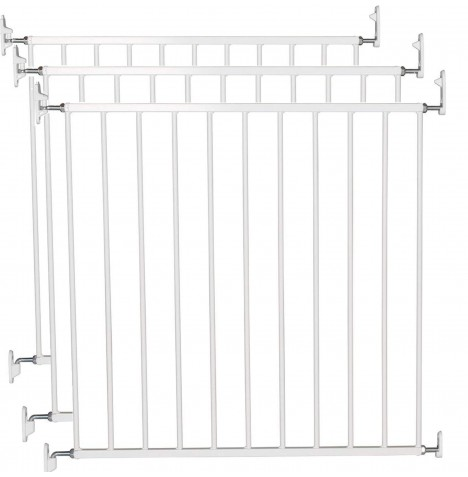 Babydan No Trip Baby Safety Gate (Pack of 3) - White Metal (72 - 78.5cm)