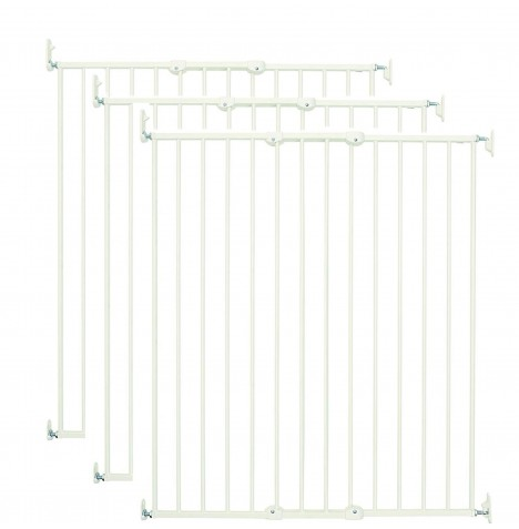 Babydan Extra Tall Streamline Stair / Pet Gate (Pack of 3) - White (63.5 - 107cm)
