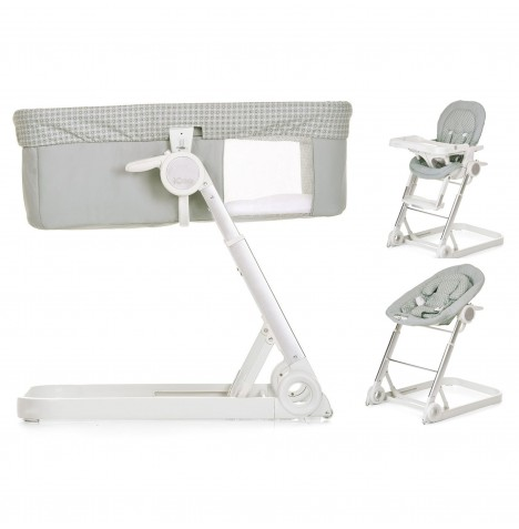 Hauck Icoo Grow With Me 3 in 1 Crib / Highchair / Rocker - Diamond Silver