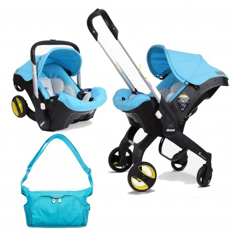 Doona Infant Car Seat / Stroller With Changing Bag - Sky Blue