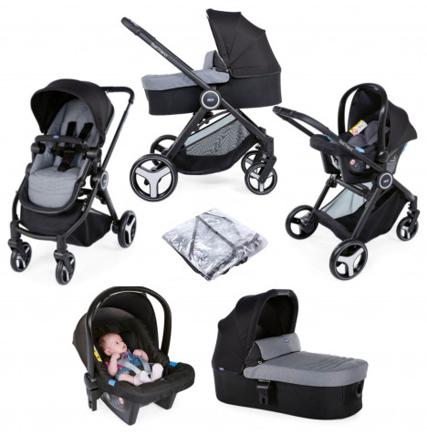 Chicco Trio Best Friend 3-in-1 Travel System - Stone Grey