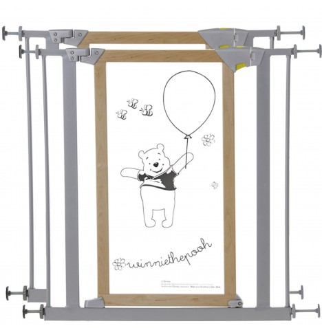 Hauck Disney Designer Winnie The Pooh Trigger Lock Safety Gate (Pack of 2) - Wood / Metal (76 - 83cm)