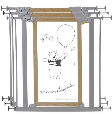 Hauck Disney Designer Winnie The Pooh Trigger Lock Safety Gate (Pack of 3) - Wood / Metal (76 - 83cm)