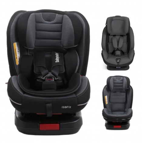 Babyauto Every Stage MultiFix Group 0+123 Isofix Car Seat - Black / Grey