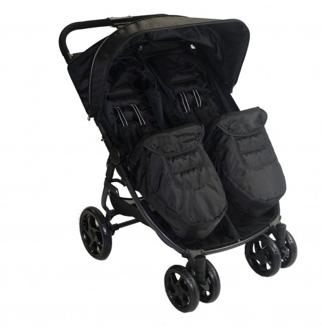 Red Kite Push Me Twini Side By Side Pushchair - Carbon / Black