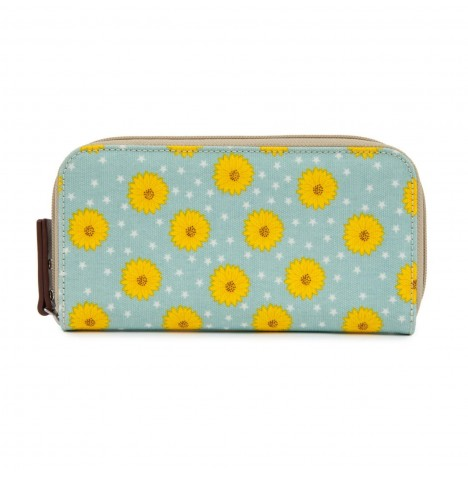 Pink Lining Wallet - Sunflowers