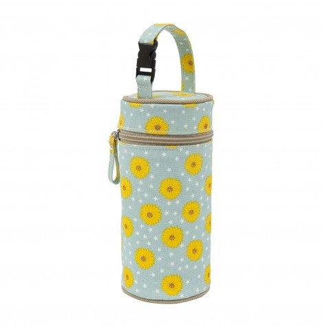 Pink Lining Insulated Bottle Holder - Sunflowers