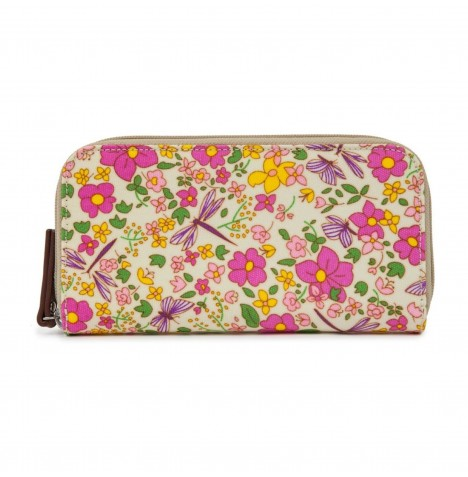 Pink Lining Wallet - Cottage Garden