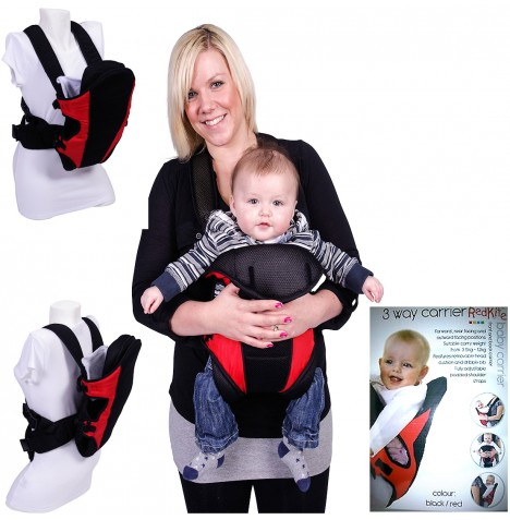 Red Kite Carry Me 3 Way Baby Carrier - Black