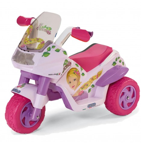 Peg Perego Raider Princess 6V Kids Electric Ride On Trike - Purple/Pink