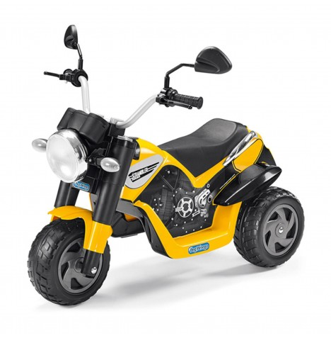 Ducati Scrambler 6V Kids Electric Ride On Trike by Peg Perego - Yellow
