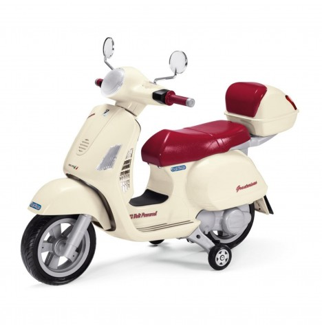 Vespa 12V Kids Electric Ride On Bike By Peg Perego - Cream