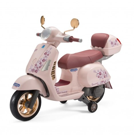 Vespa 12V Kids Electric Ride On Bike By Peg Perego - (Rose Gold) Mon Amour