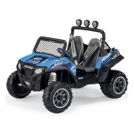 Polaris Ranger RZR 900 12V Kids Electric Ride On Buggy by Peg Perego - Blue