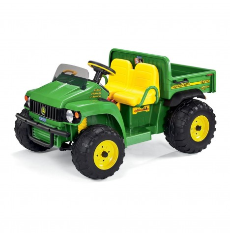 John Deere Gator HPX 12V Kids Electric Ride On Utility Truck by Peg Perego - Green