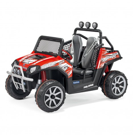 Polaris Ranger RZR 24V Kids Electric Ride On Buggy by Peg Perego - Red