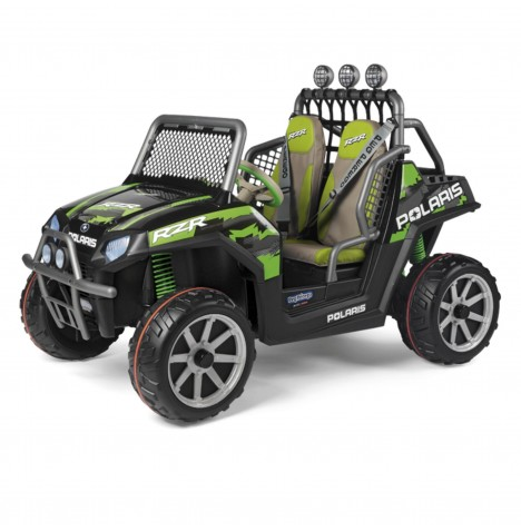 Polaris Ranger RZR 24V Kids Electric Ride On Buggy by Peg Perego - Green Shadow