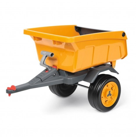 John Deere Construction Trailer by Peg Perego - Yellow