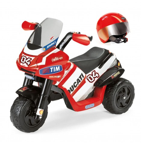Ducati Desmosedici 6V Kids Electric Ride On Trike & Helmet Bundle by Peg Perego - Red