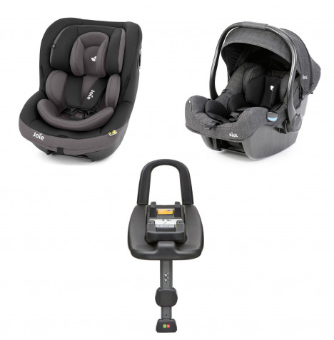 Joie i-Gemm Group 0+ and i-Venture Group 1 Car Seat with i-Base Bundle - Ember
