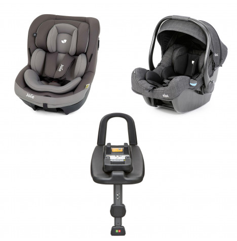 Joie i-Gemm Group 0+ and i-Venture Group 1 Car Seat with i-Base Bundle - Dark Pewter