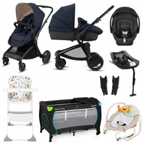 Cybex CBX Bimisi Flex Everything You Need Travel System Bundle With Base - Jeansy Blue