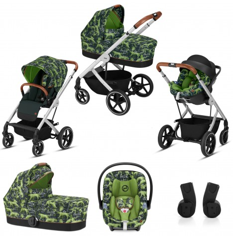 Cybex Gold Balios S (Fashion Edition) Travel System - Respect Green