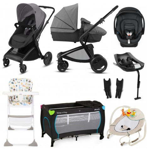 Cybex CBX Bimisi Flex Everything You Need Travel System Bundle With Base - Comfy Grey