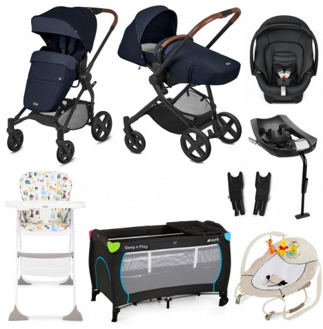 Cybex CBX Kody Cozy Lux Everything You Need Travel System Bundle With Base - Jeansy Blue