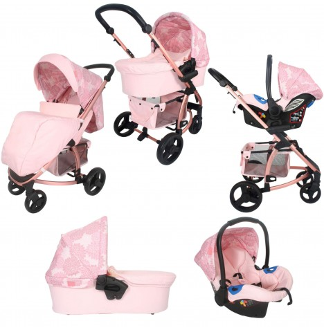 My Babiie MB200+ *Katie Piper Collection* Travel System & Carrycot - Rose Gold Floral