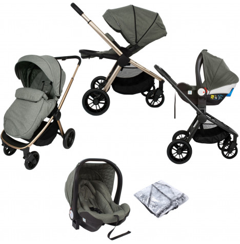 My Babiie MB400 I-Size Travel System *Billie Faiers Signature Range* - Sage Green