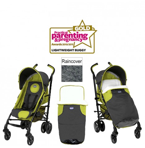 NEW CHICCO GREEN WAVE LITEWAY STROLLER BABY PUSHCHAIR WITH ...