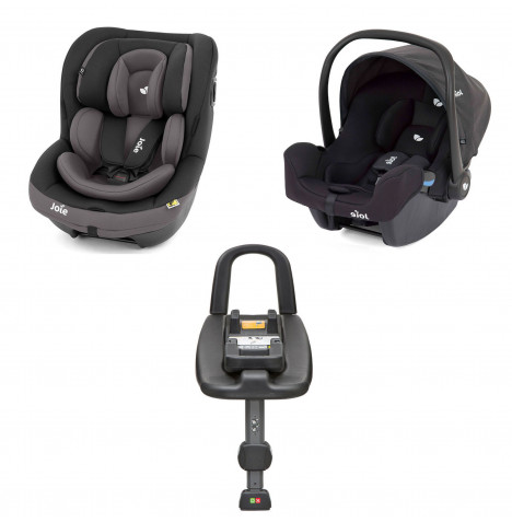 Joie i-Snug Group 0+ and i-Venture Group 1 Car Seat with i-Base Bundle - Ember