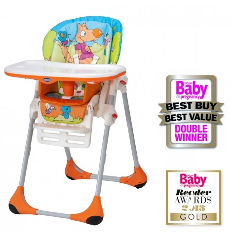 Chicco Polly 2 in 1 Baby Highchair - Wood Friends