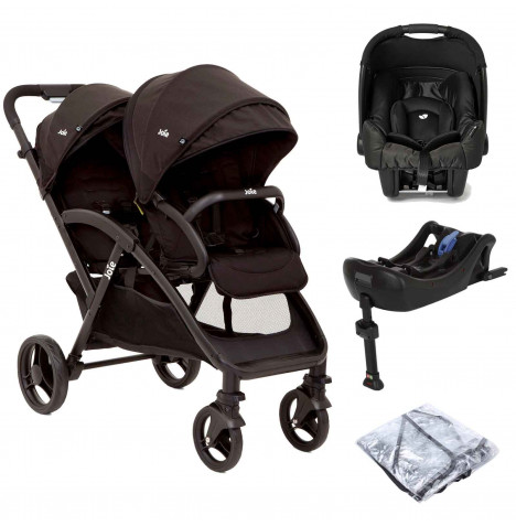 Joie Evalite Duo Tandem (Gemm) Travel System and Base - Coal