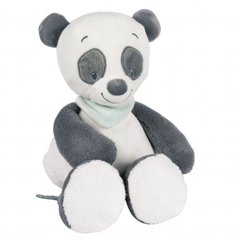 Hippychick Nattou Cuddly Lou Lou the Panda Toy - White & Grey